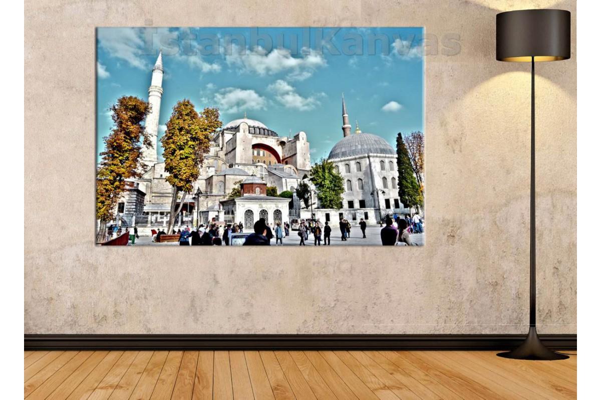 Srk257 - Ayasofya Camii Ve Sultanahmet Manzaralı Kanvas Tablo