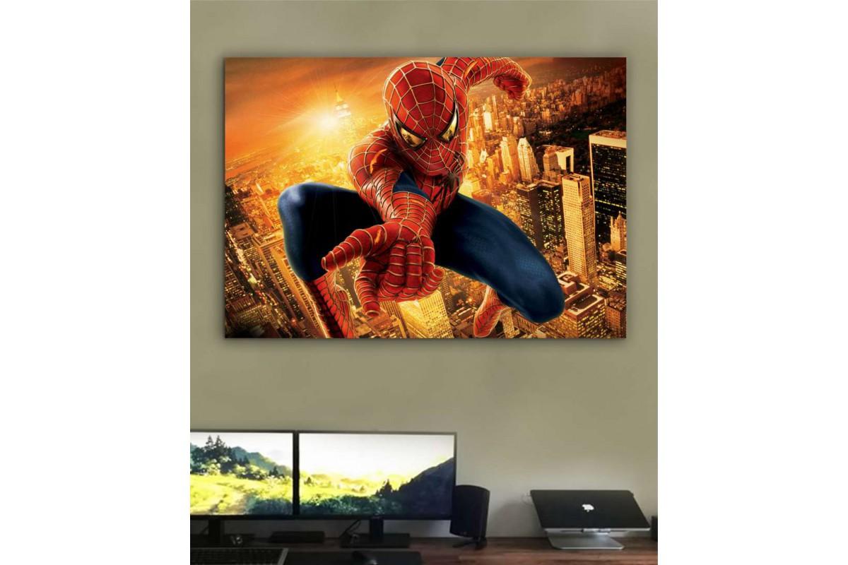 srk40b - Örümcek Adam, Spider Man, Süper Kahraman kanvas tablo