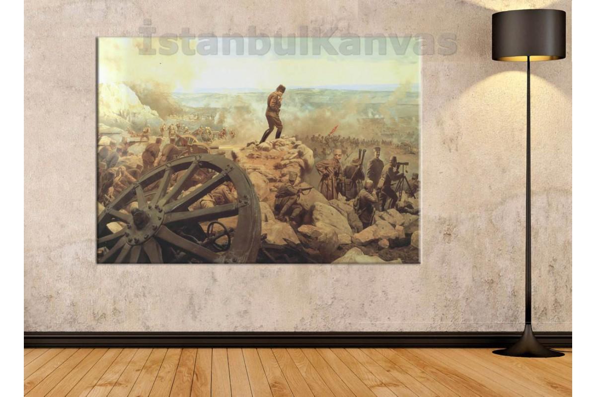 Srk43 - Atatürk Kocatepe, Büyük Taarruz Temalı Kanvas Tablo