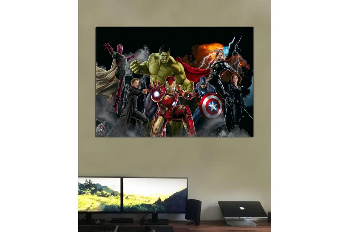 srk45b - Avengers, Thor, Ironman, Black Widow, Vision, Captain America, Hawkeye Kanvas tablo