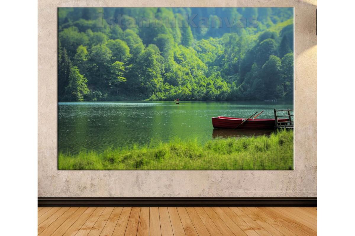 Srkm50b - Artvin Borçka Karagöl Manzarası Dekoratif Kanvas Tablo