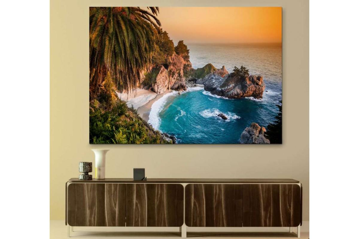 srks12 - Deniz Manzaralı dekoratif kanvas tablo