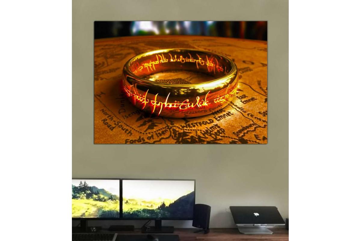 srks15b - Yüzüklerin Efendisi - Tek Yüzük - Sauron'un güç yüzüğü kanvas tablo