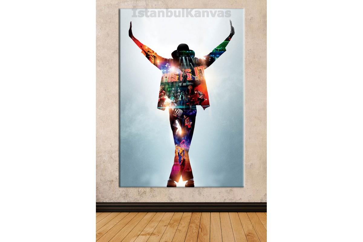 Srks48 - Michael Jackson - This İs İt - Soyut Kanvas Tablo