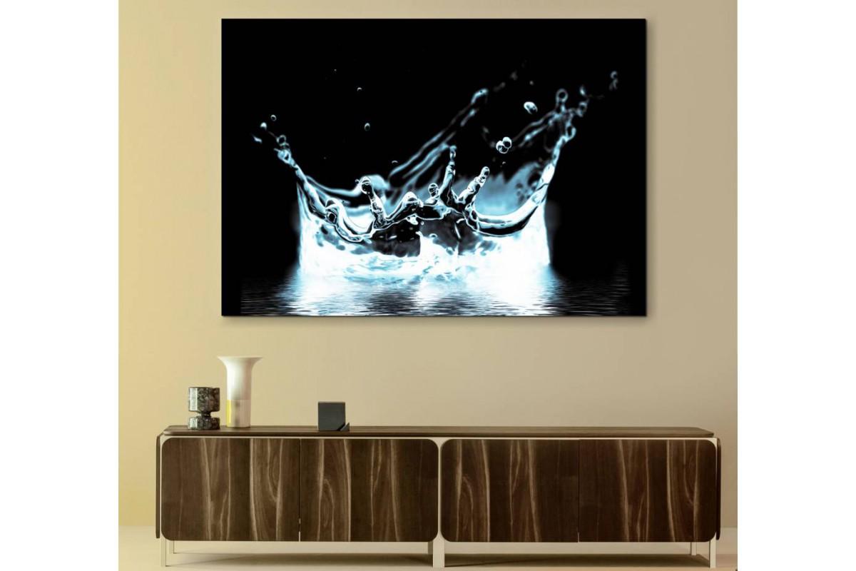 srks79 - Sıçrayan Su Damlaları Dekoratif Kanvas Tablo