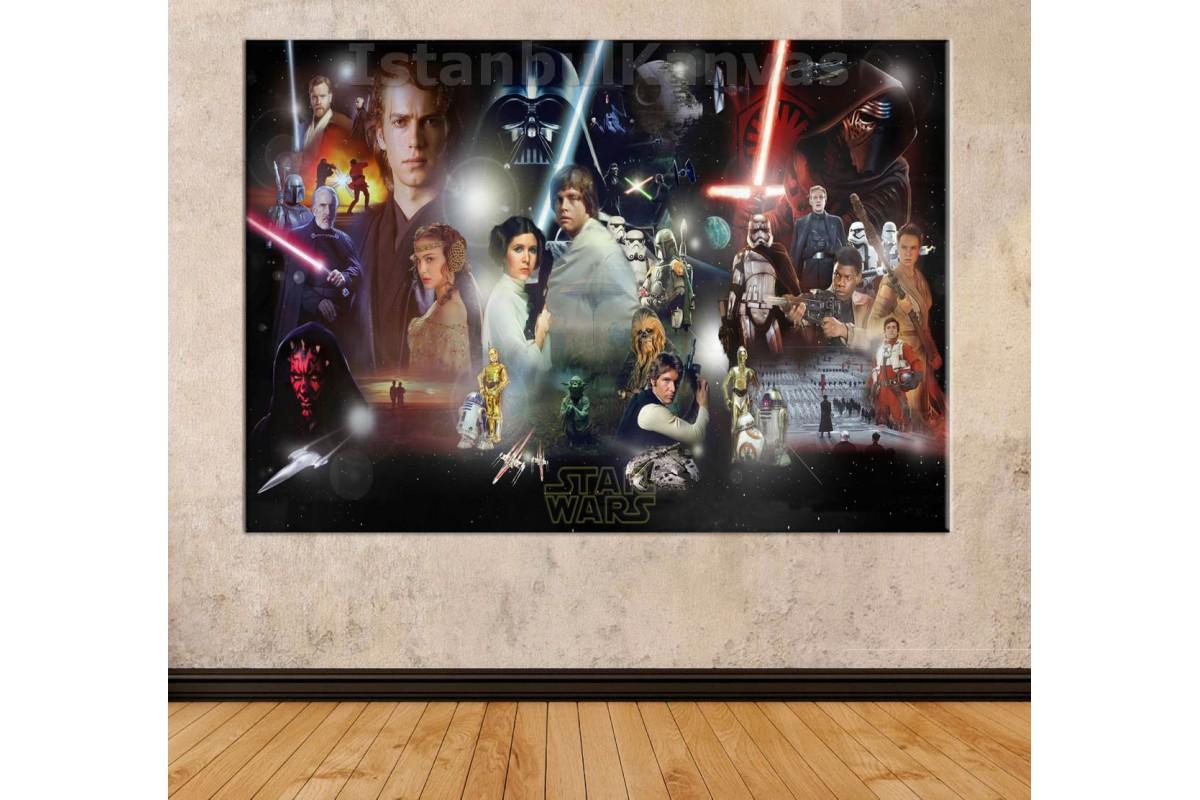 Srksw03 - Star Wars (Yıldız Savaşları) Kolaj Kanvas Tablo