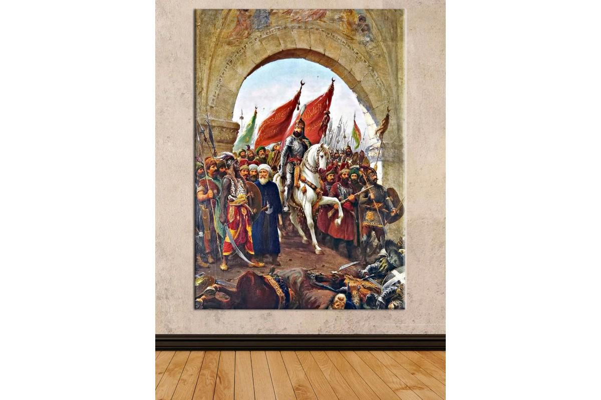 Srkz2 - Zonaro - Fatih Sultan Mehmet İstanbul'un Fethi Yağlı Boya Görünüm Kanvas Tablo
