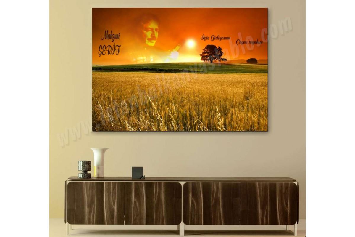 srm01 - Aşık Mahzuni Şerif anısına işte gidiyorum çeşmi siyahım temalı kanvas tablo