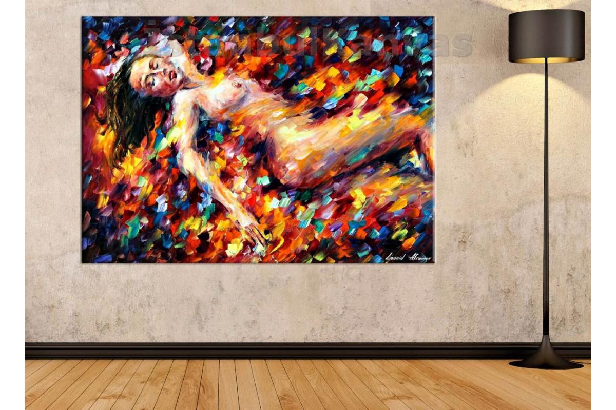 Srnd1 - Afremov - Soyut Dekoratif Nü Kanvas Tablo