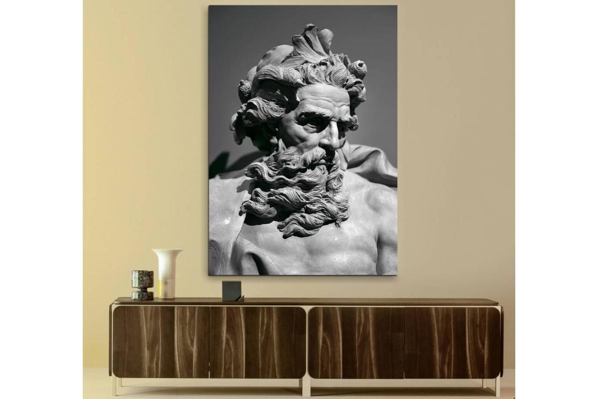 srnp1 - Roma Mitolojisi Deniz Tanrısı Neptün Kanvas Tablo