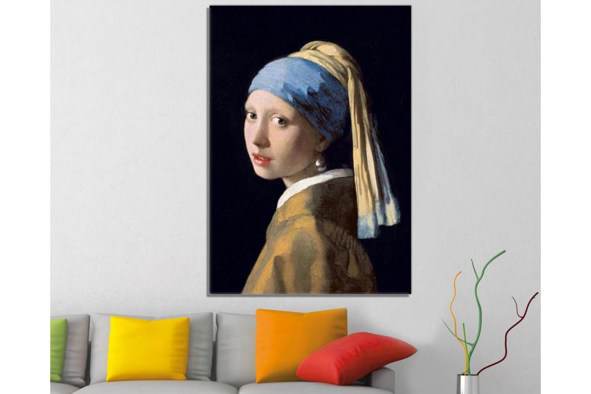 srpe1 - Johannes Vermeer - Girl With a Pearl Earring - İnci Küpeli Kız Kanvas Tablo