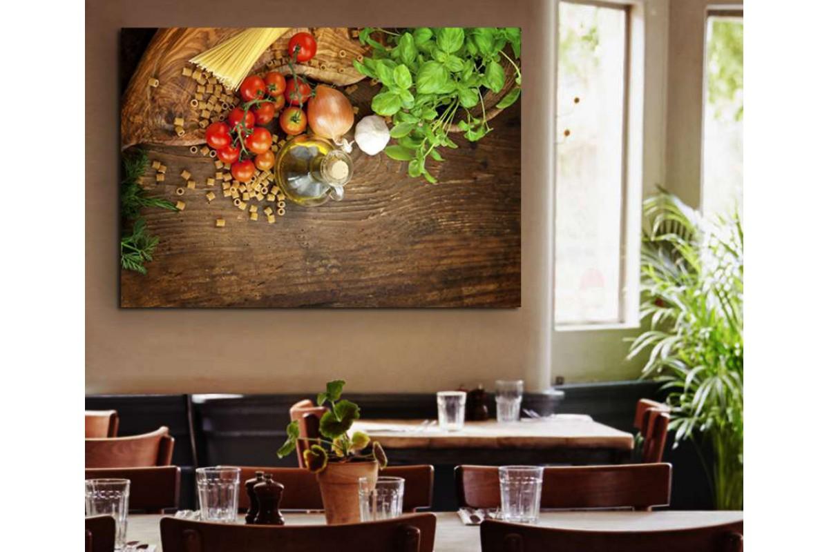 srrs11 - Makarnalar Sebze ve Zeytin Yağı Cafe, Restaurant Kanvas Tablo