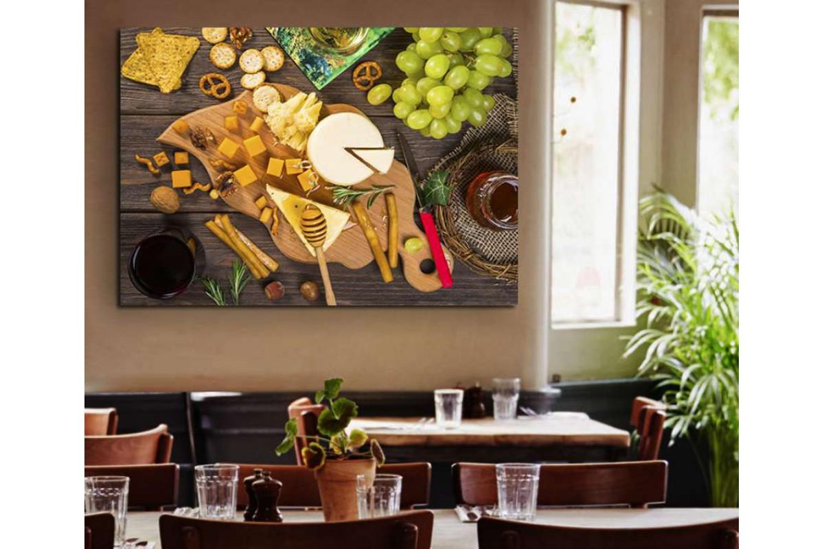 srrs12 - Kahvaltılıklar, Çay ve Meyve Tabağı Cafe, Restoran Kanvas Tablo