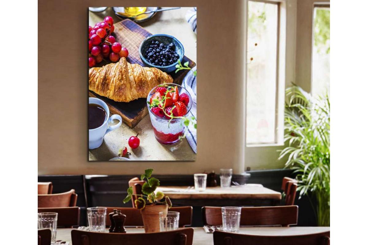 srrs15 - Kahvaltı, Meyveler ve Kahve Cafe, Restaurant Kanvas Tablo