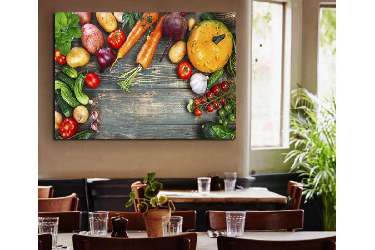 srrs19 - Rengarenk Taze Sebzeler Cafe, Restoran Kanvas Tablo