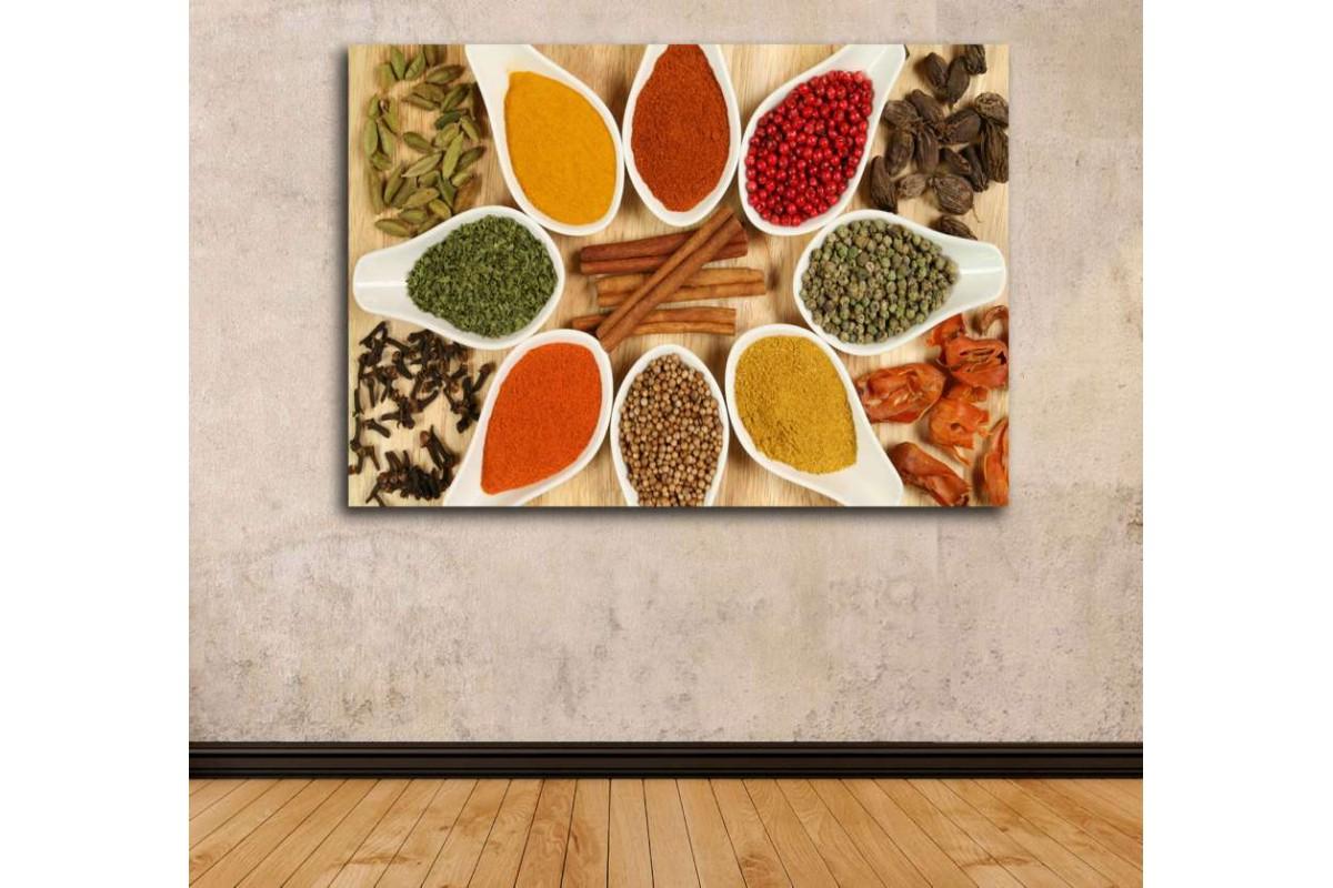 srrs2 - İştah Açıcı Baharatlar Cafe, Restaurant Kanvas Tablo