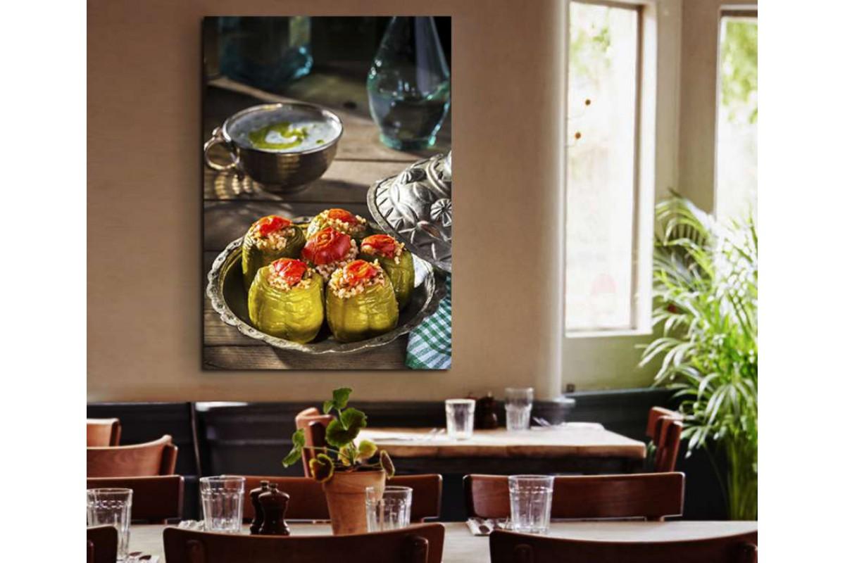 srrs8 - Biber Dolması ve Cacık Türk Yemekleri Cafe, Restaurant, Lokanta Kanvas Tablo