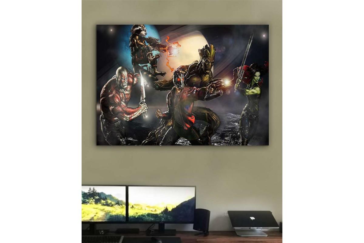 srsh1 - Guardians of Galaxy (galaksinin koruyucuları) süper kahraman kanvas tablo