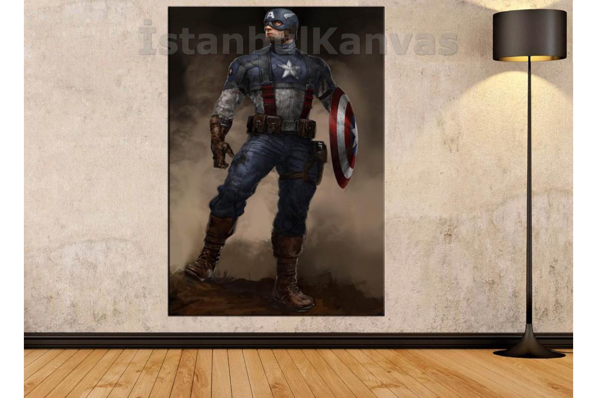 Srsh15 - Captain America - Yüzbaşı Amerika Kanvas Tablo