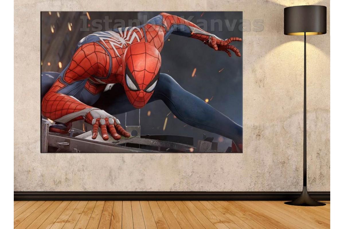 Srsh22 - Örümcek Adam, Spiderman, Süper Kahraman, Çizgi Roman Kanvas Tablo