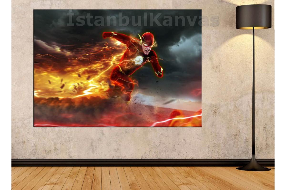 Srsh26 - Flash, Süper Kahraman - Çizgi Roman, Fantastik Kanvas Tablo