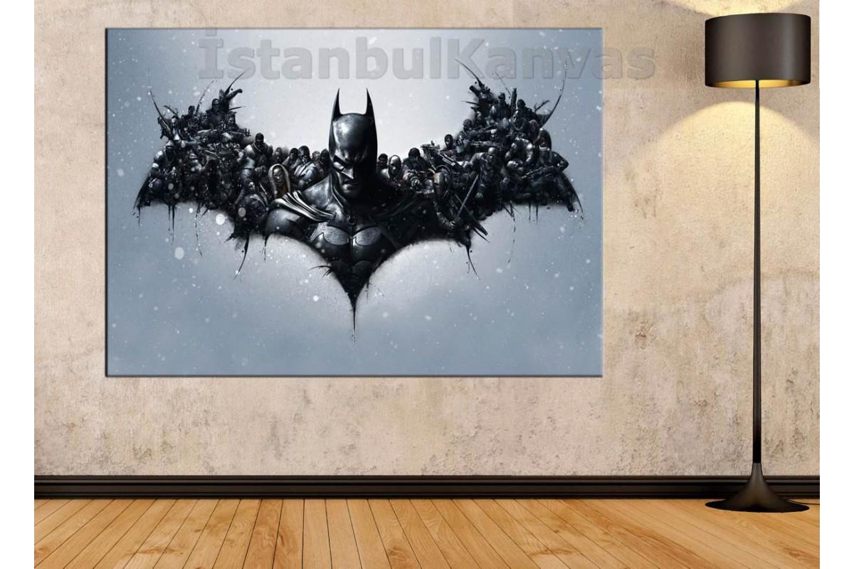 Srsh27 - Batman Ve Düşmanları, Süper Kahraman, Çizgi Roman Kanvas Tablo