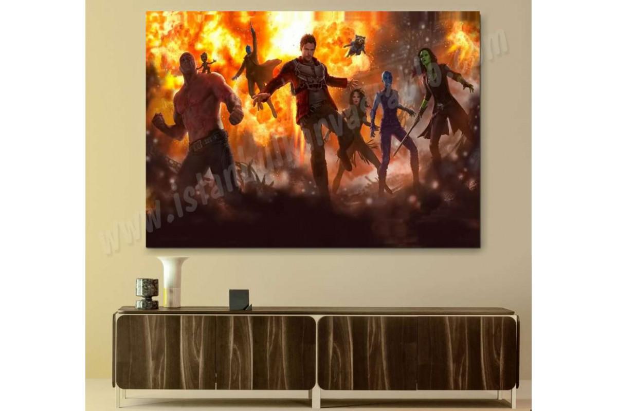 srsh31b - Guardians of Galaxy (galaksinin koruyucuları) süper kahraman kanvas tablo