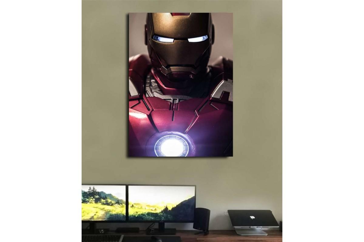 srsh33 - Klasik Iron Man Kostümü, Demir Adam Kanvas Tablo