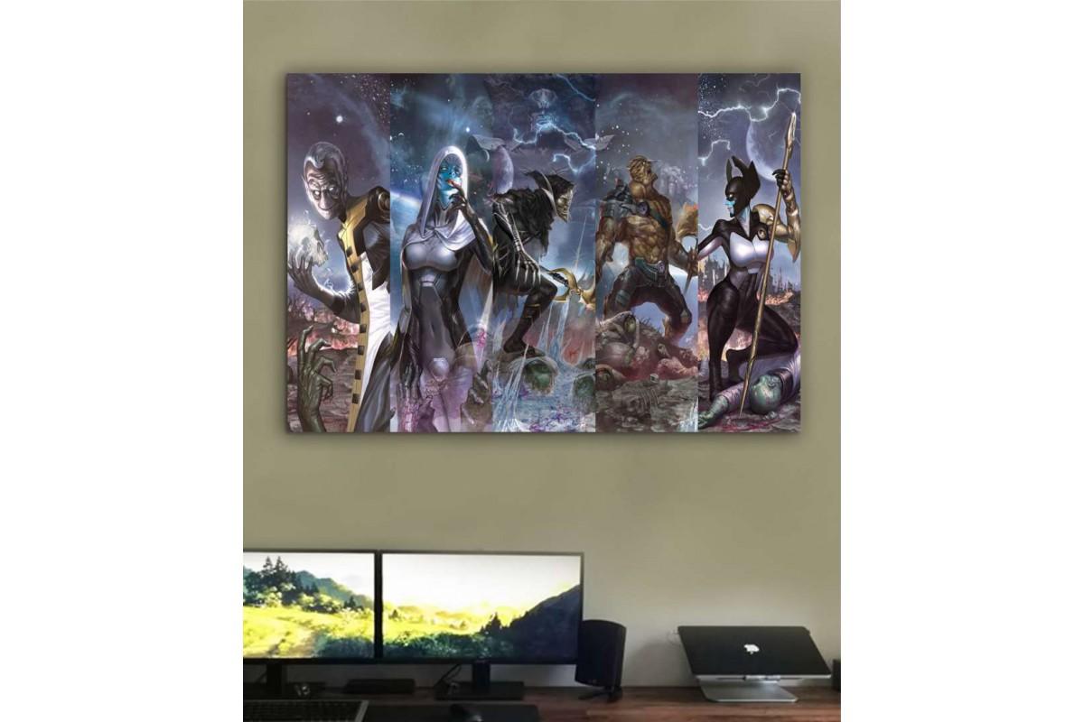 srsh39 - Avengers Infinity War, Thanos ve çocukları Black Order özel tasarım kanvas tablo