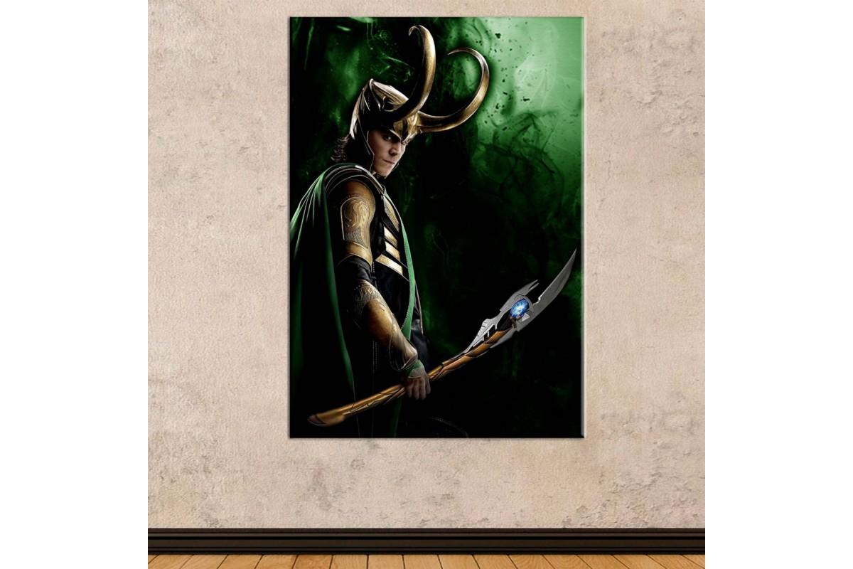 srsh42 - Marvel Avengers, Asgard Fesatlık Tanrısı Loki Kanvas Tablo