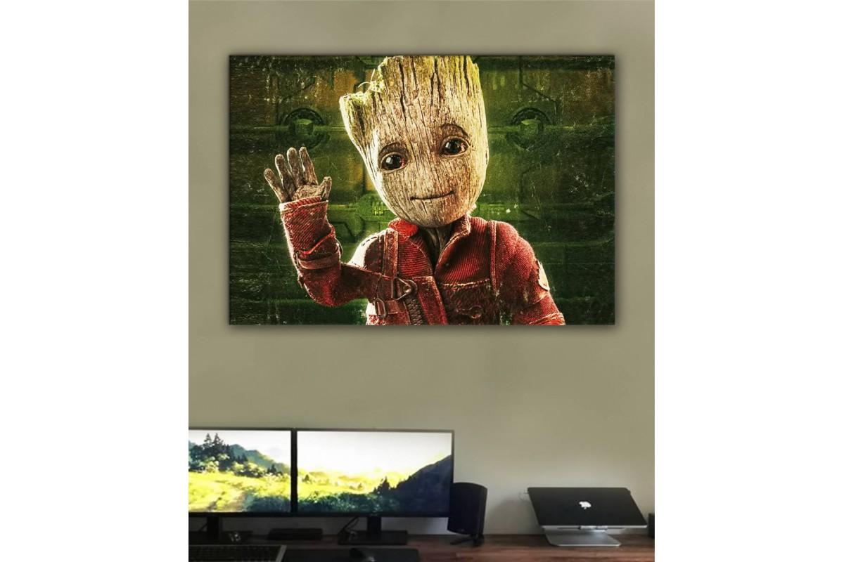 srsh49 - Baby Groot, Bebek Groot Kanvas Tablo