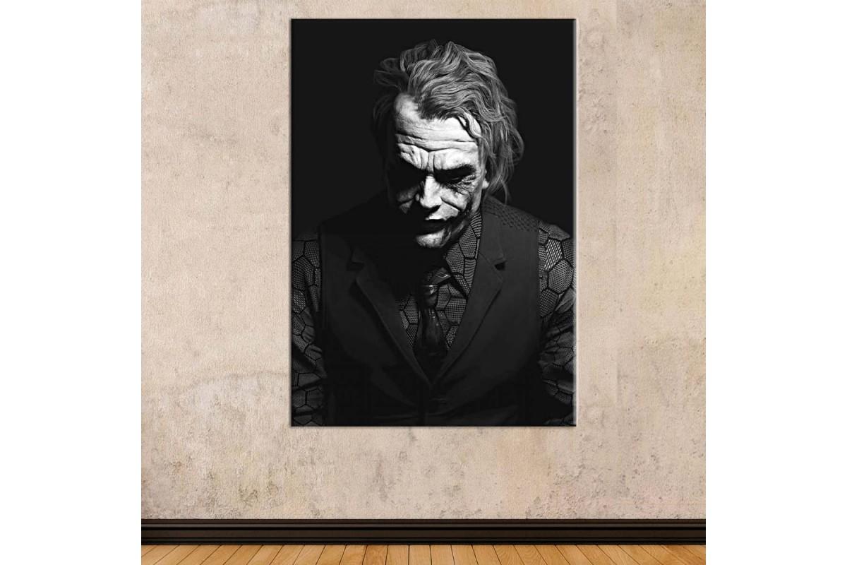srsh6b - Siyah Beyaz Joker (Heath Ledger) Kanvas Tablo