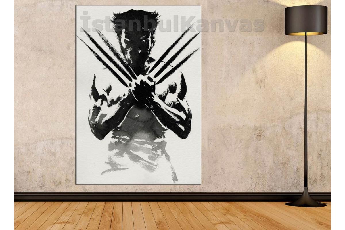Srsh7 - Wolverine Silueti Soyut Kanvas Tablo