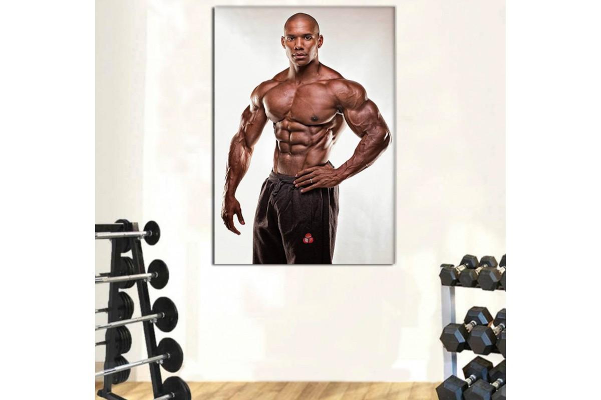 srss17 - Vücut Geliştirme, Bodybuilding, Spor Salonu, Roger Snipes Kanvas Tablo