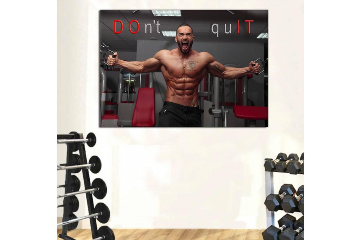 srss3 - Lazar Angelov Do It Motto, Crossfit, Fitness, Vücut Geliştirme - Body Building Kanvas Tablo