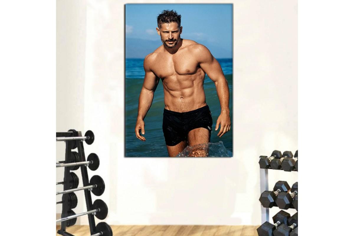 srss30 - Fit Vücutlu Aktör Joe Manganiello Bodybuilding Kanvas Tablo