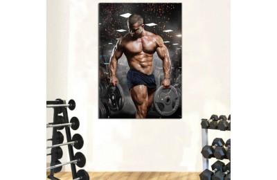 srss7 - Vücut Geliştirme, Bodybuilding, Fitness, Spor Salonu Vücut Geliştirme Sporu Kanvas Tablo