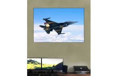 srst4 - Ay Yıldızlı Türk F-16 Savaş Uçağı, Türk Yıldızları, Solo Türk Kanvas Tablo