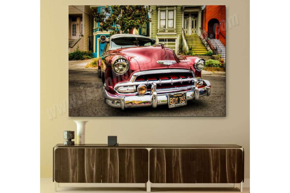 srvc11 - Chevrolet 1952 - Klasik Araba - Eski - Vintage Otomobil Kanvas Tablo