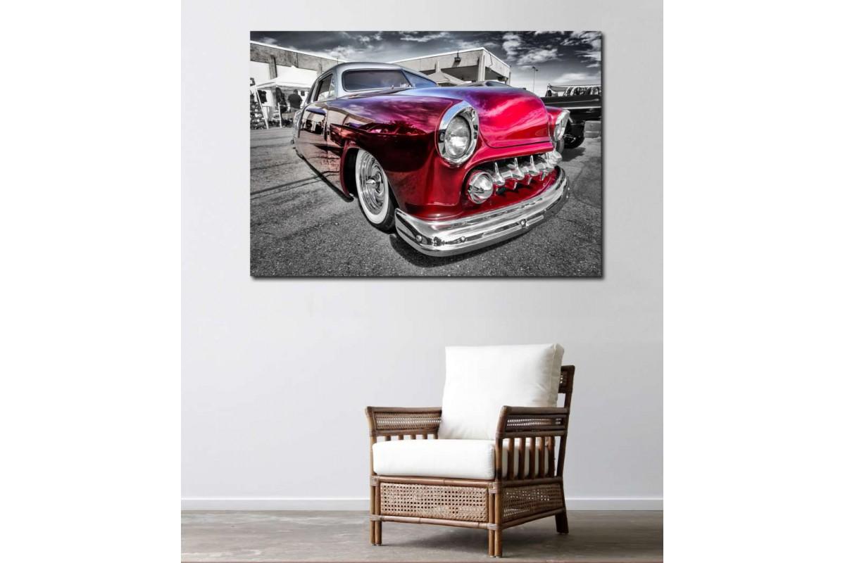 srvc21 - Hotrod Klasik Araba - Vintage Otomobil Kanvas Tablo