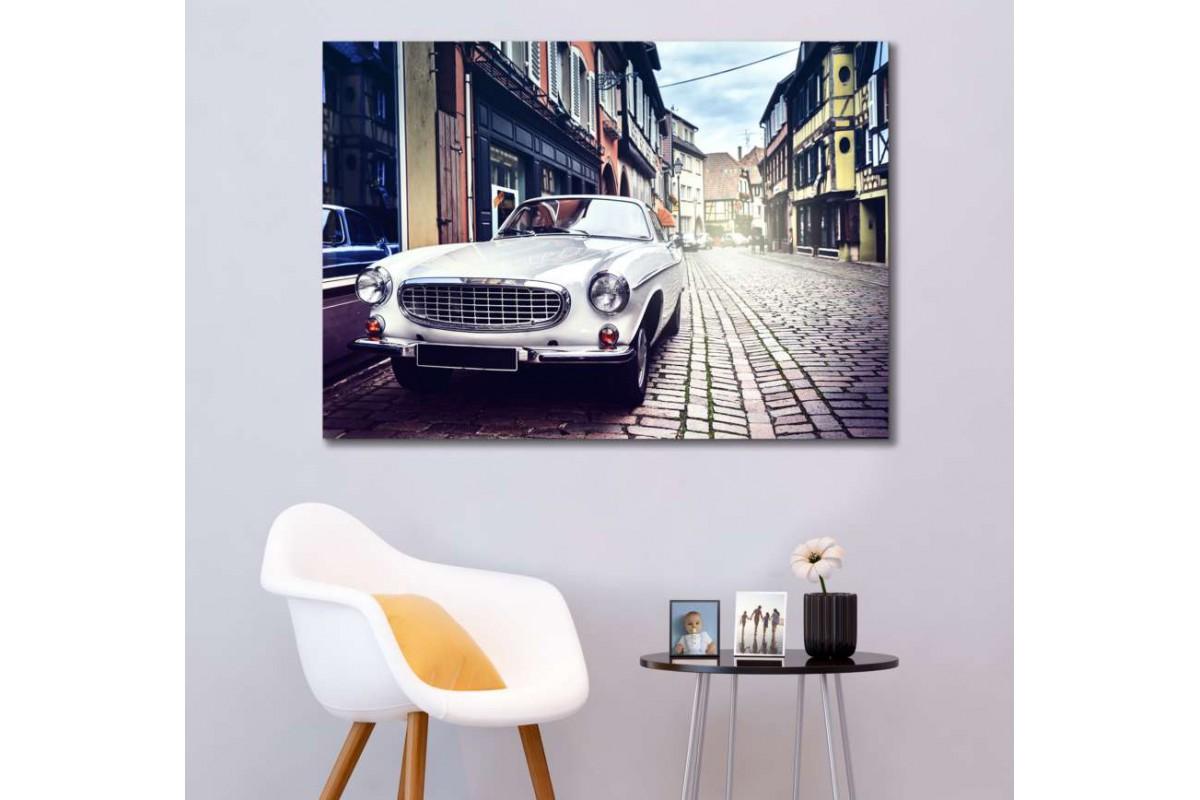 srvc24 - Jaguar Klasik Araba - Vintage Otomobil Kanvas Tablo
