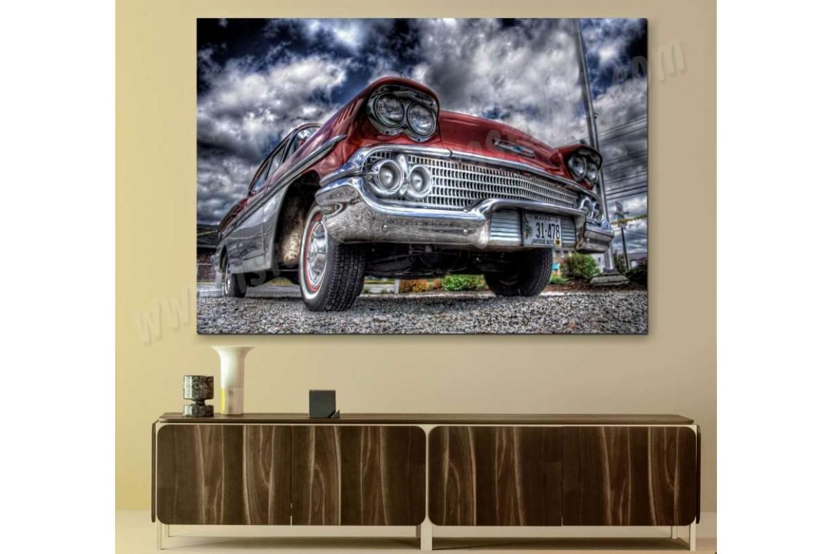 srvc30 - Chevrolet Klasik Araba - Vintage Otomobil Kanvas Tablo