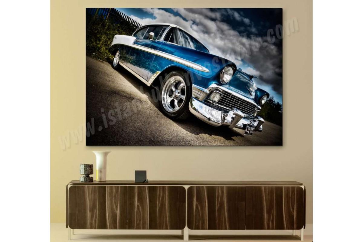 srvc5 - Chevrolet Klasik Araba - Eski - Vintage Otomobil Kanvas Tablo