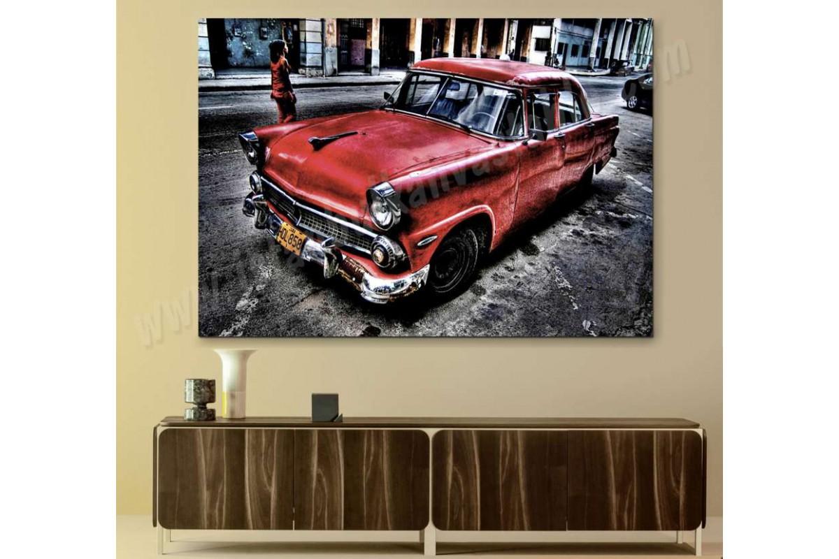 srvc6 - Klasik Eski Araba - Vintage Otomobil Kanvas Tablo