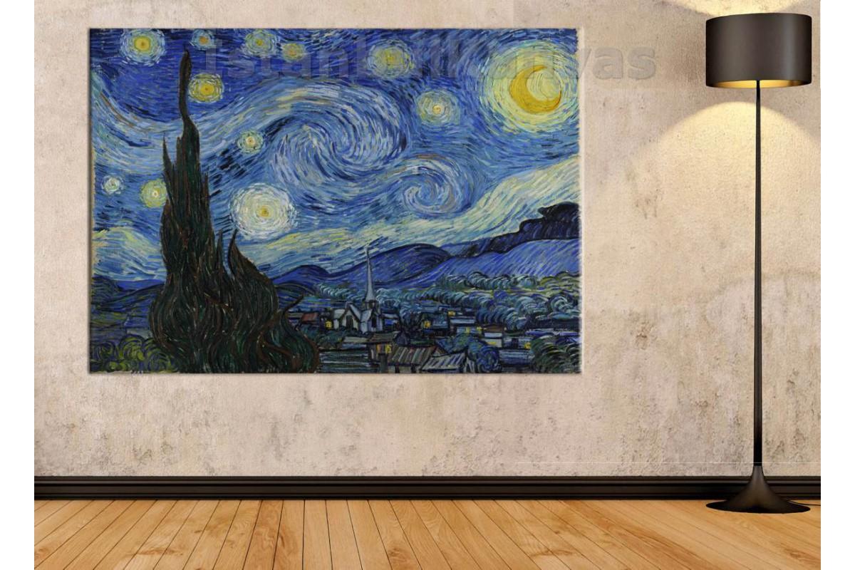Srvg2 - Vincent Van Gogh - Starry Night - Yıldızlı Gece Kanvas Tablo