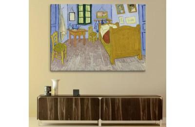 srvg3 - Vincent Van Gogh Bedroom - Yatakodası Soyut Kanvas Tablo