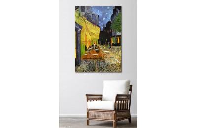 srvg4 - Vincent Van Gogh Cafe Terrace at Night - Teras Kafede Gece Soyut Kanvas Tablo