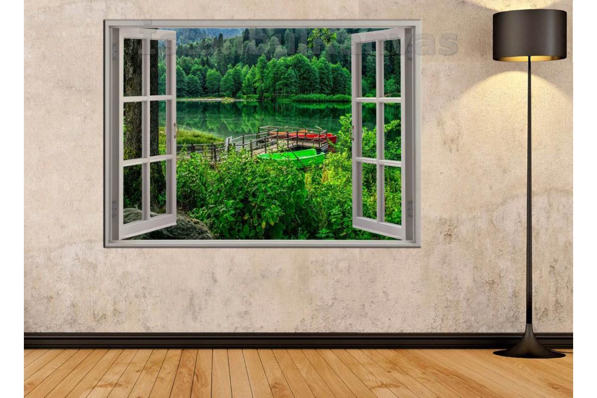 Srw03 - Açılır Pencere Artvin Borçka Karagöl Manzarası Kanvas Tablo