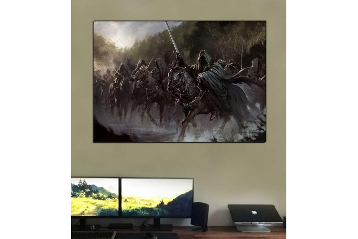 srye19 - NAZGUL- 9'LAR- YÜZÜK TAYFI- Yüzüklerin Efendisi (LORD OF THE RINGS) Kanvas Tablo