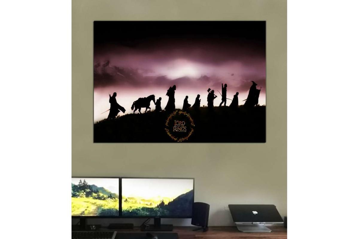 srye25 - Yüzüklerin Efendisi, Yüzük Kardeşliği, LOTR-Lord of the Rings-Fellowship Kanvas Tablo
